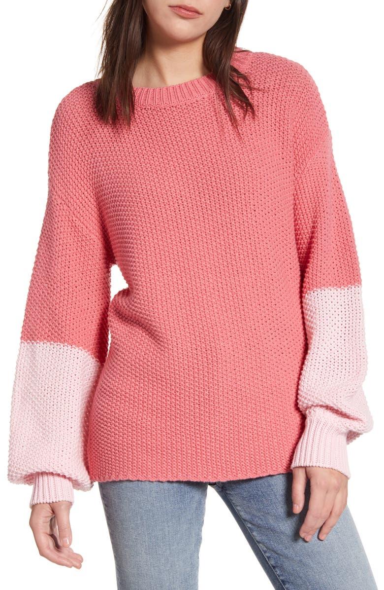 WILDFOX Love Block Swinton Sweater, Main, color, 650