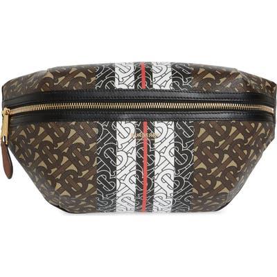 Burberry Medium Sonny E-Canvas Belt Bag - Brown