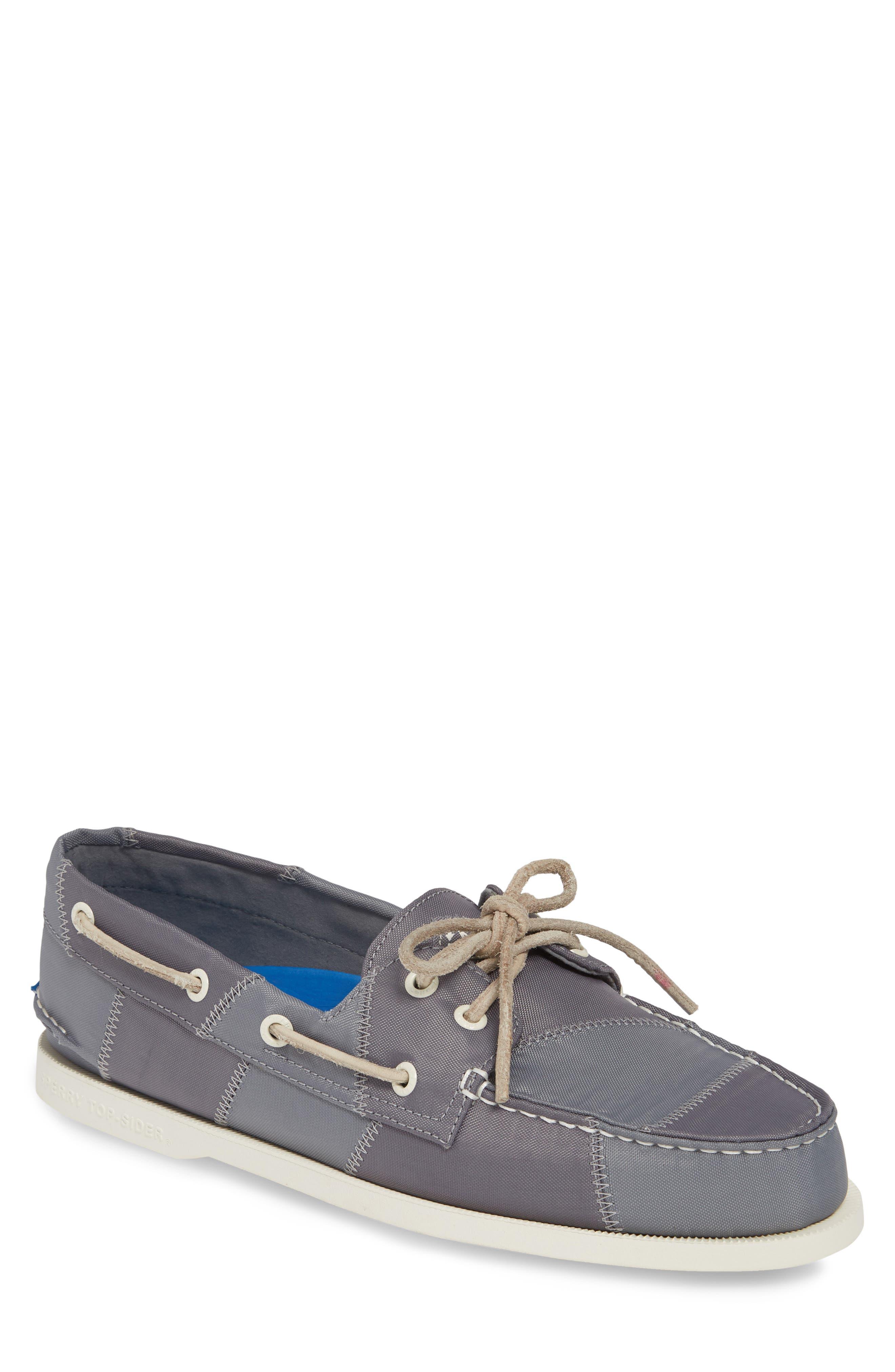 ,                             Authentic Original BIONIC<sup>®</sup> Boat Shoe,                             Main thumbnail 1, color,                             GREY/ BLUE