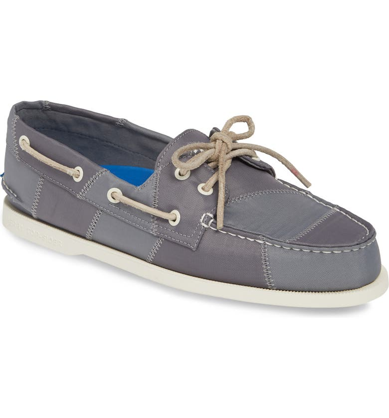 SPERRY Authentic Original BIONIC<sup>®</sup> Boat Shoe, Main, color, GREY/ BLUE