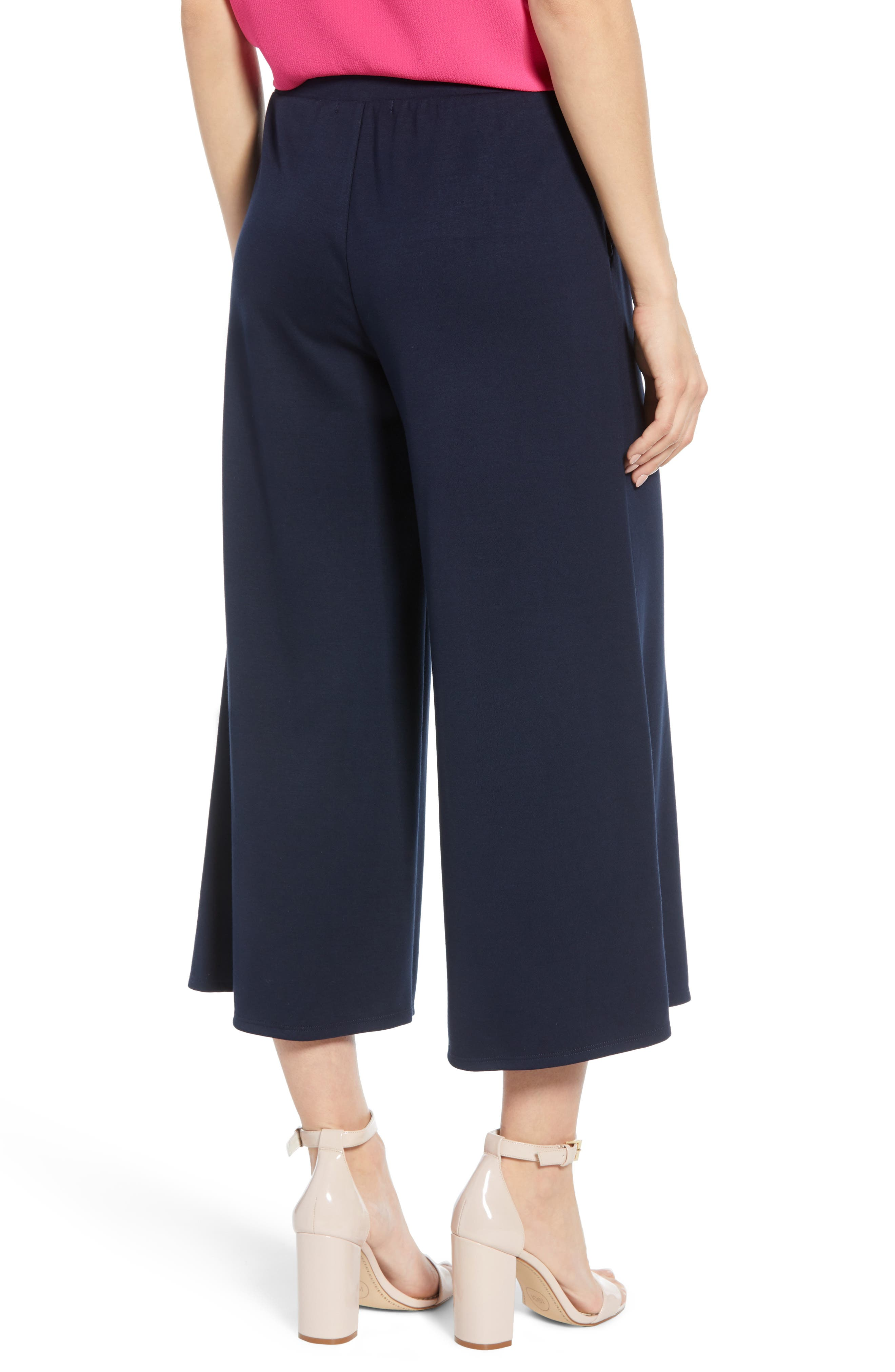 ,                             x Living in Yellow Wide Leg Crop Pants,                             Alternate thumbnail 2, color,                             NAVY