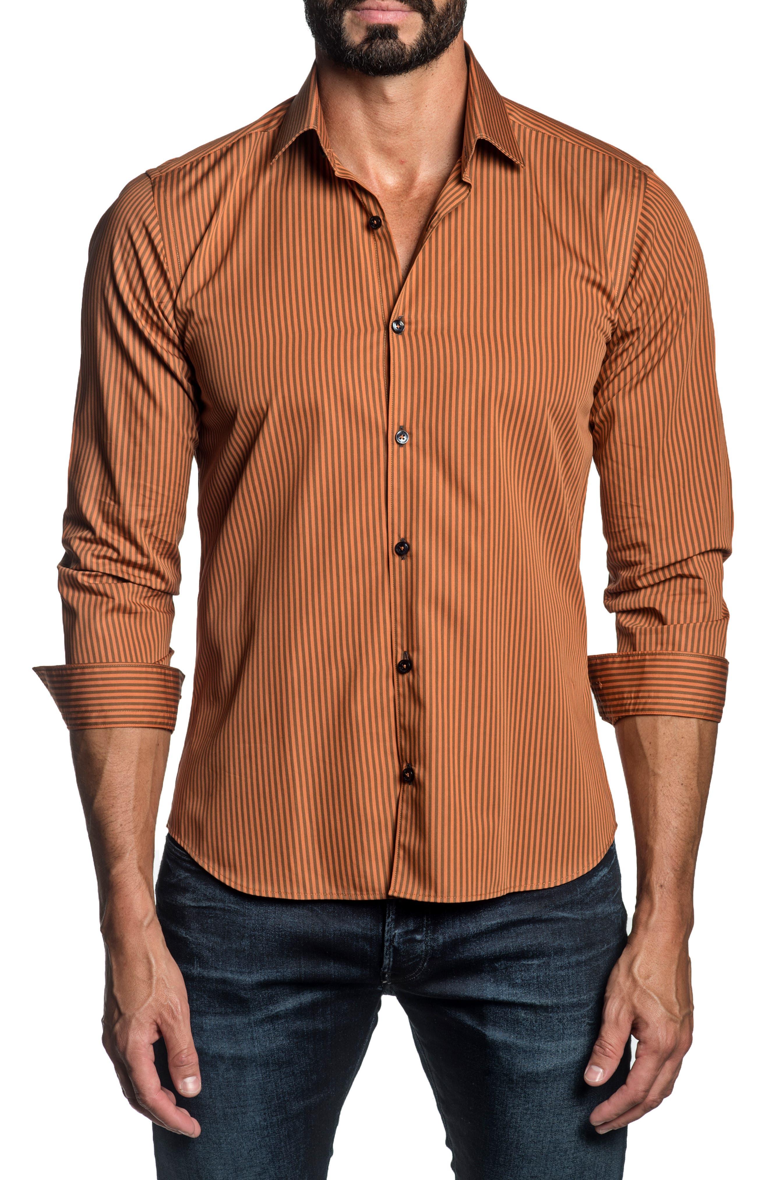 Stripe Button-Up Shirt