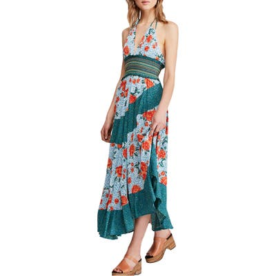 Free People Gabriella Halter Midi Dress, Blue