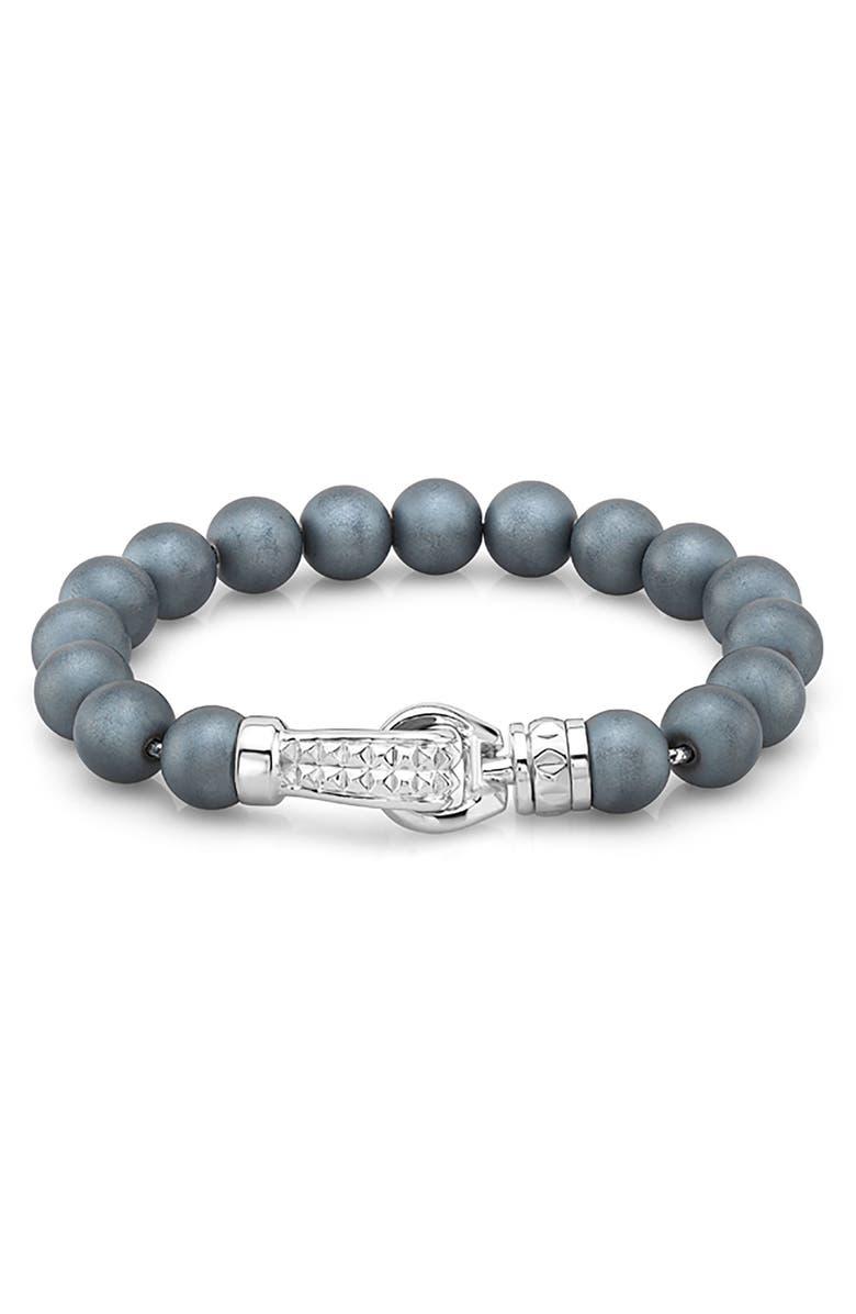 ROOM101 Hematite Bead Bracelet, Main, color, 040