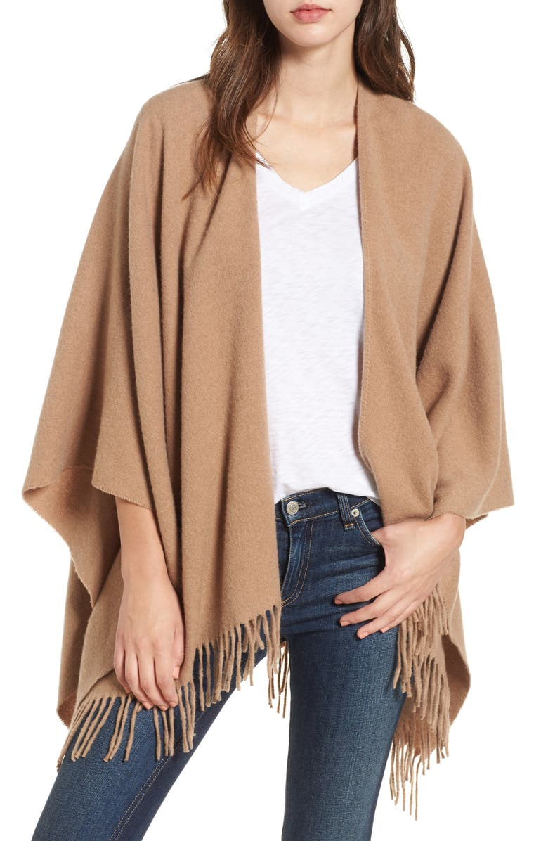 RAG & BONE Cashmere Poncho, Main, color, HEATHERED CAMEL - Over 40 Winter Skin Care, Beauty & Wardrobe Essentials!
