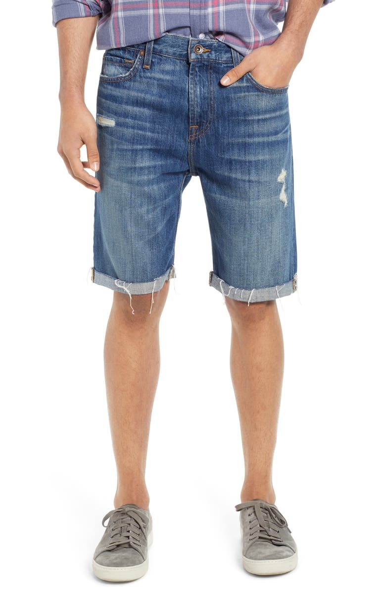 7 FOR ALL MANKIND<SUP>®</SUP> Cutoff Denim Shorts, Main, color, LEGEND DESTROYED