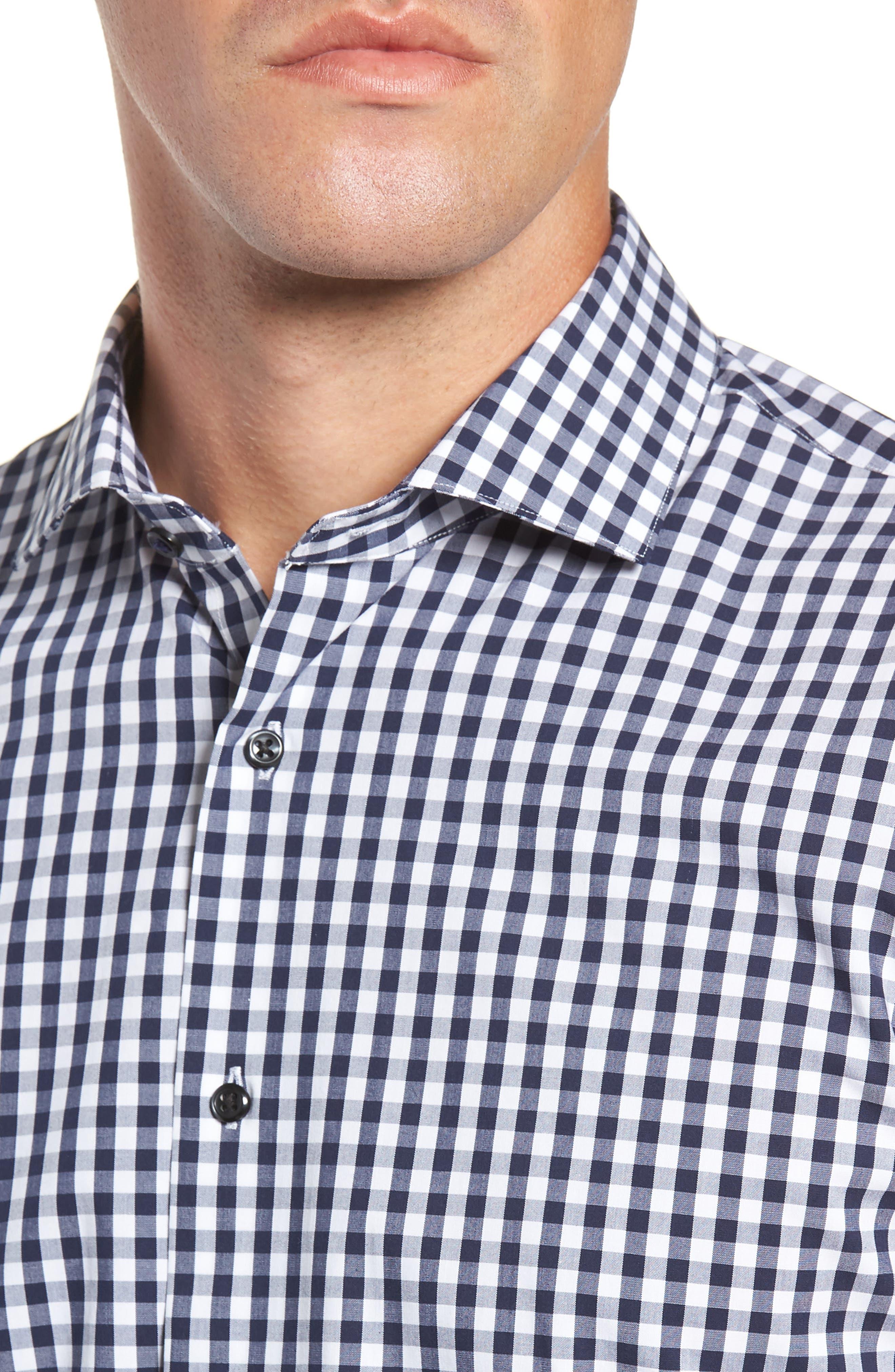 ,                             Tech-Smart Trim Fit Stretch Check Dress Shirt,                             Alternate thumbnail 16, color,                             401