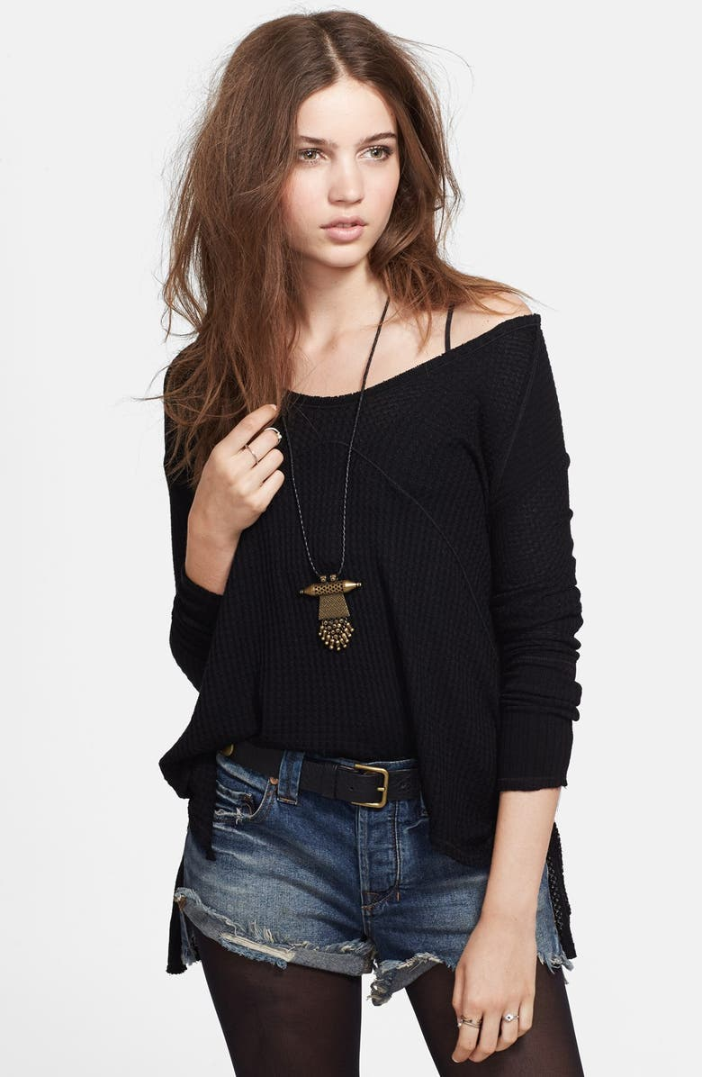 FREE PEOPLE 'Sunset Park' Thermal Top, Main, color, 001