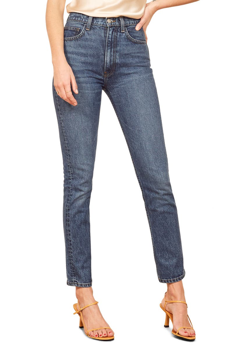 Stevie Ultra High Waist Cigarette Jeans by Reformation