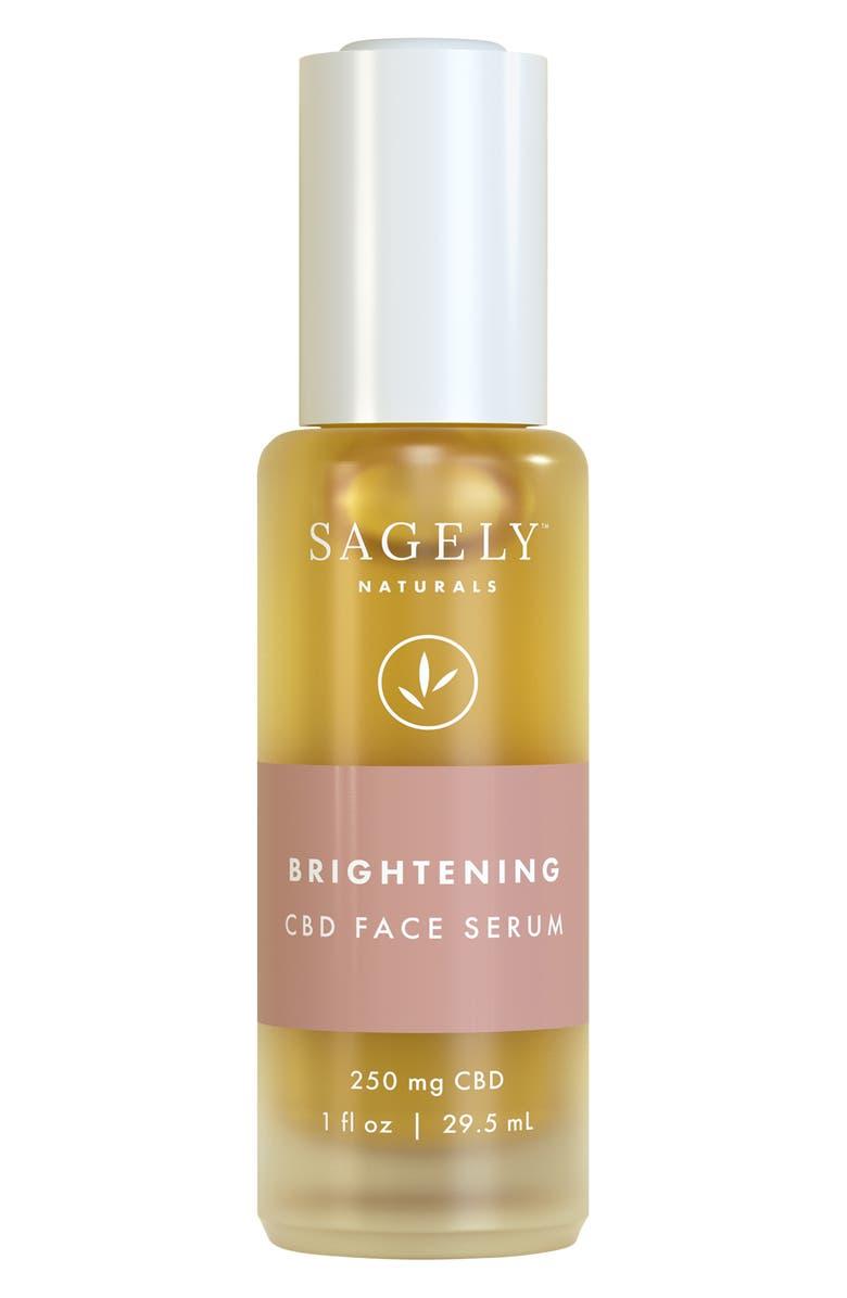 SAGELY NATURALS Brightening CBD Face Serum, Main, color, NO COLOR