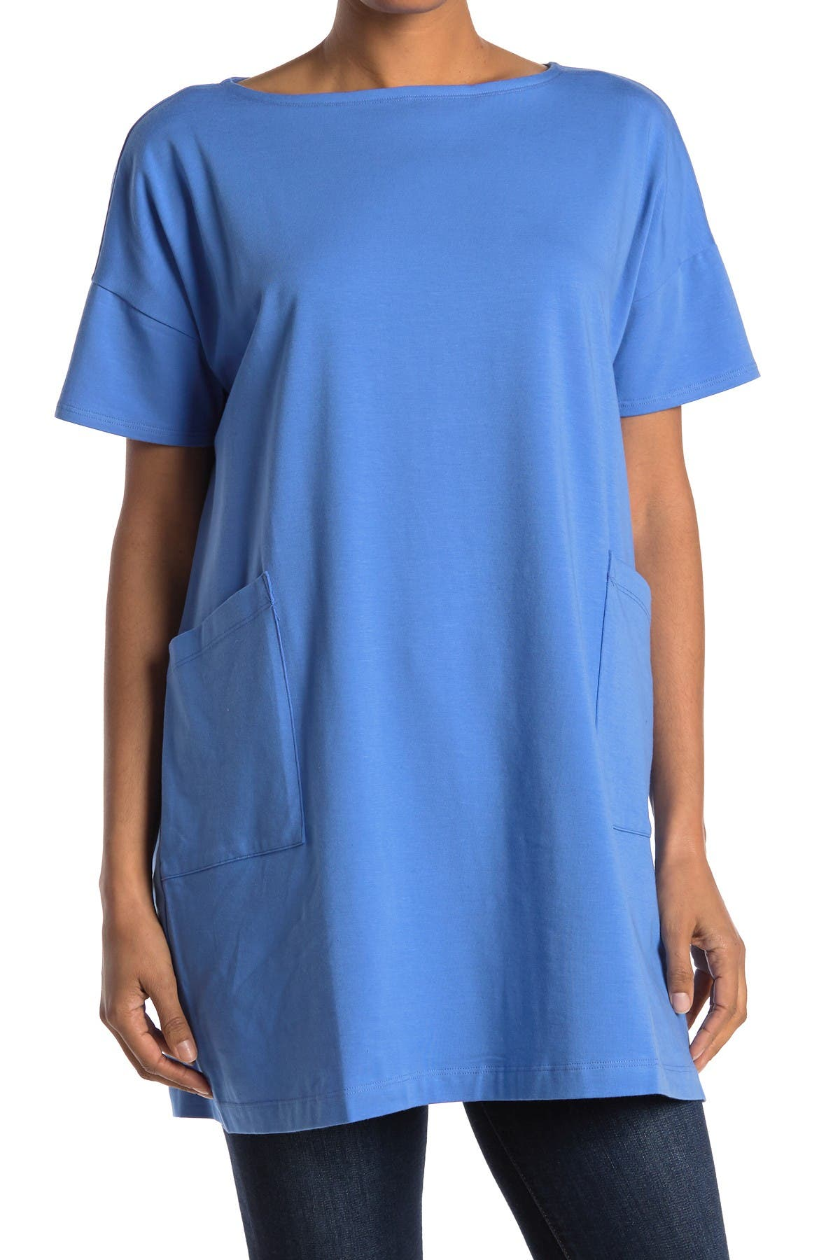 Image of Eileen Fisher Stretch Organic Cotton Tunic