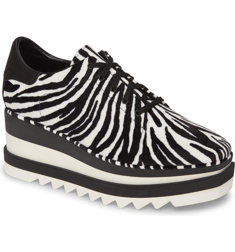 STELLA MCCARTNEY Elyse Platform Oxford, Main, color, ZEBRA PRINT