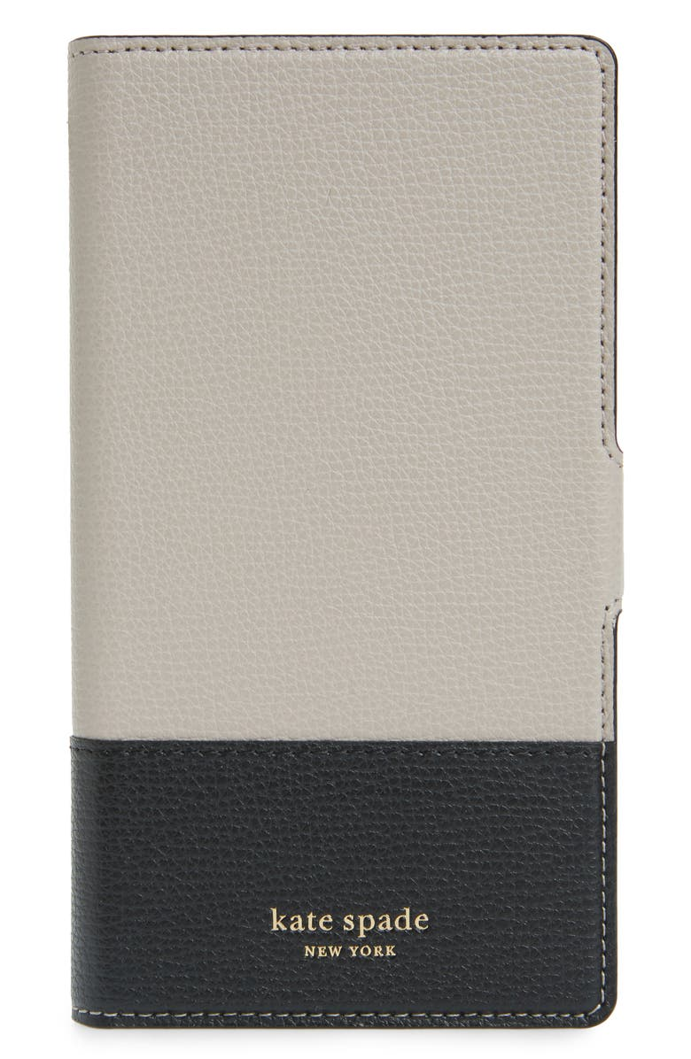 KATE SPADE NEW YORK sylvia magnetic wrap iPhone X/XS/XS Max & Xr folio, Main, color, WARM TAUPE/ BLACK