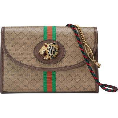 Gucci Supreme Canvas Shoulder Bag - Brown
