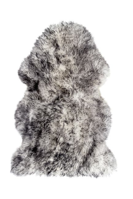 Image of Natural New Zealand Genuine Sheepskin Rug - 2ft x 3ft - Gradient Grey