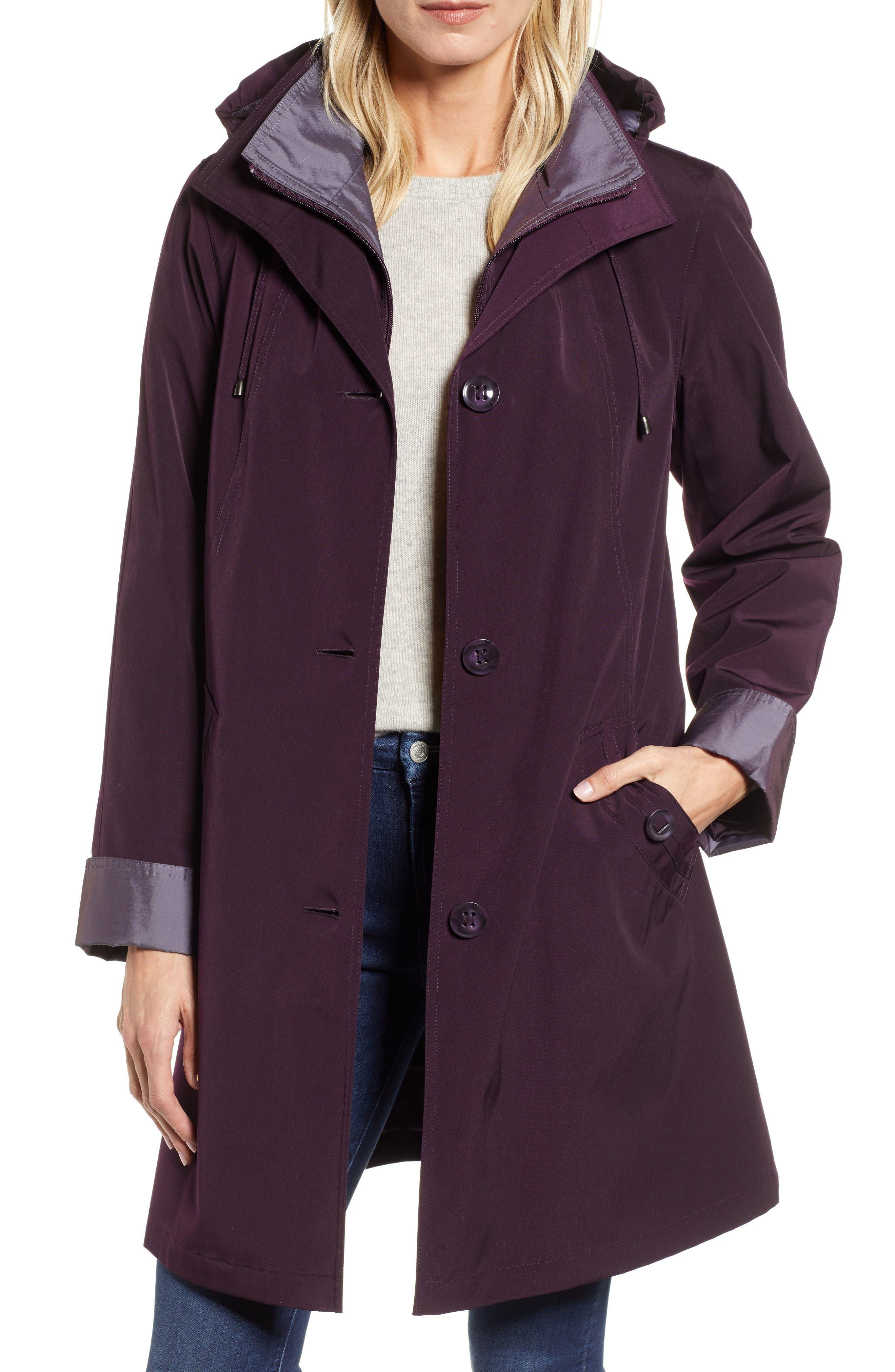 ,                             Detachable Hood & Liner Raincoat,                             Main thumbnail 8, color,                             518