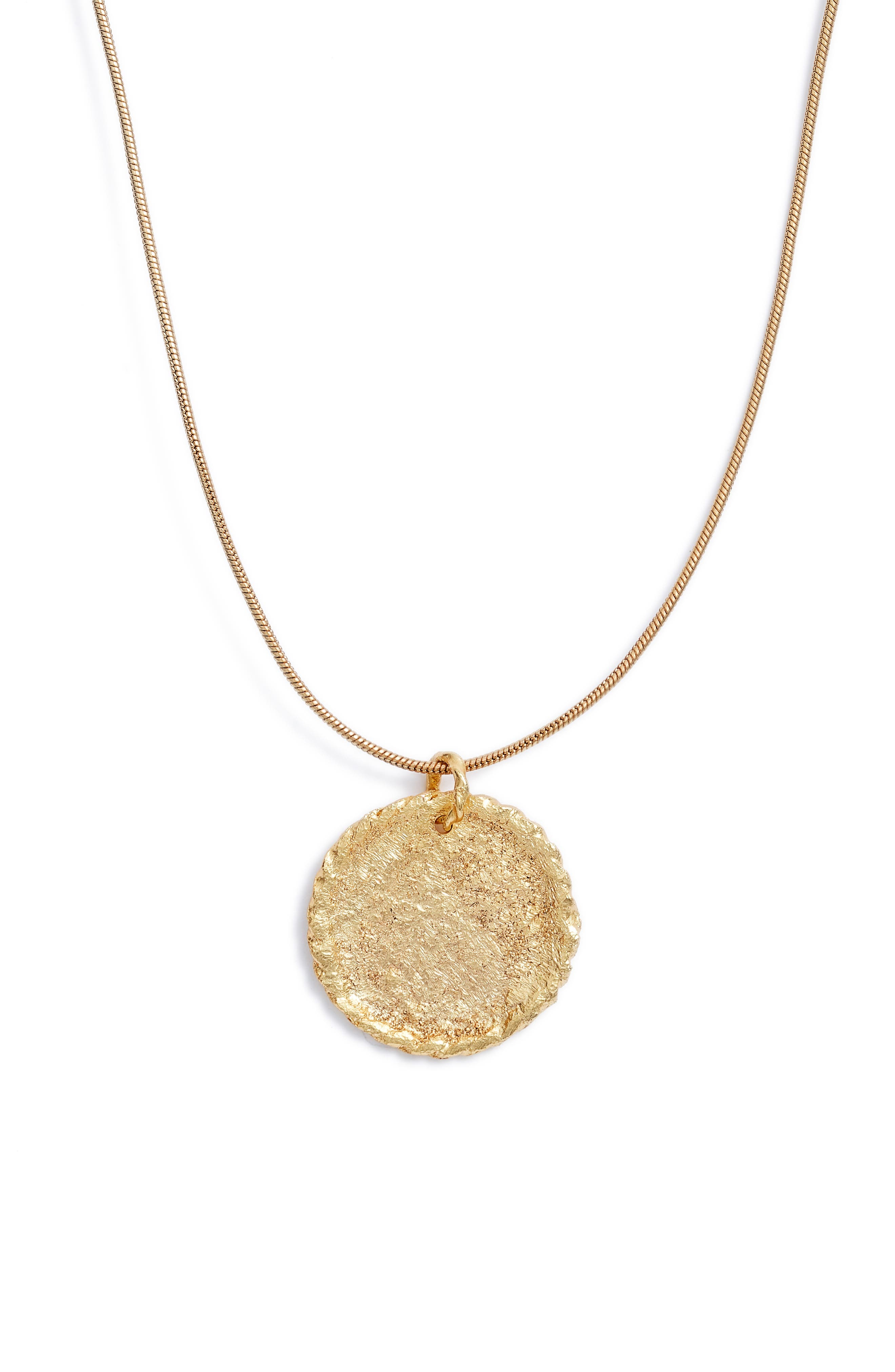 Crisobela Jewelry Boticario Coin Pendant Necklace in Gold at Nordstrom
