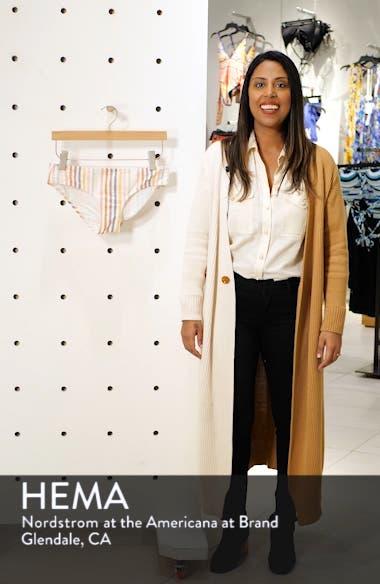 Seersucker Stripe Shirred Bikini Bottoms, sales video thumbnail