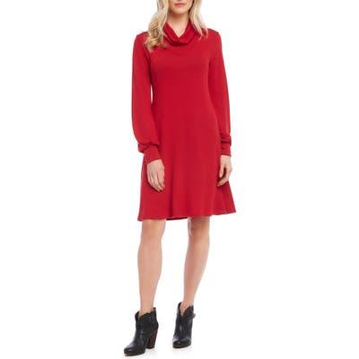 Karen Kane Turtleneck Sweater Dress, Red