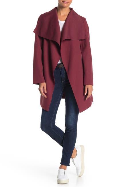 Image of Lola Made In Italy Drape Collar Coat