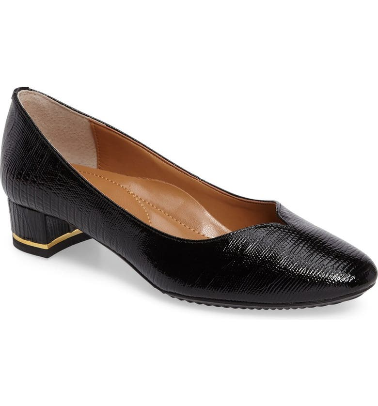 J. RENEÉ Bambalina Block Heel Pump, Main, color, BLACK FAUX LEATHER