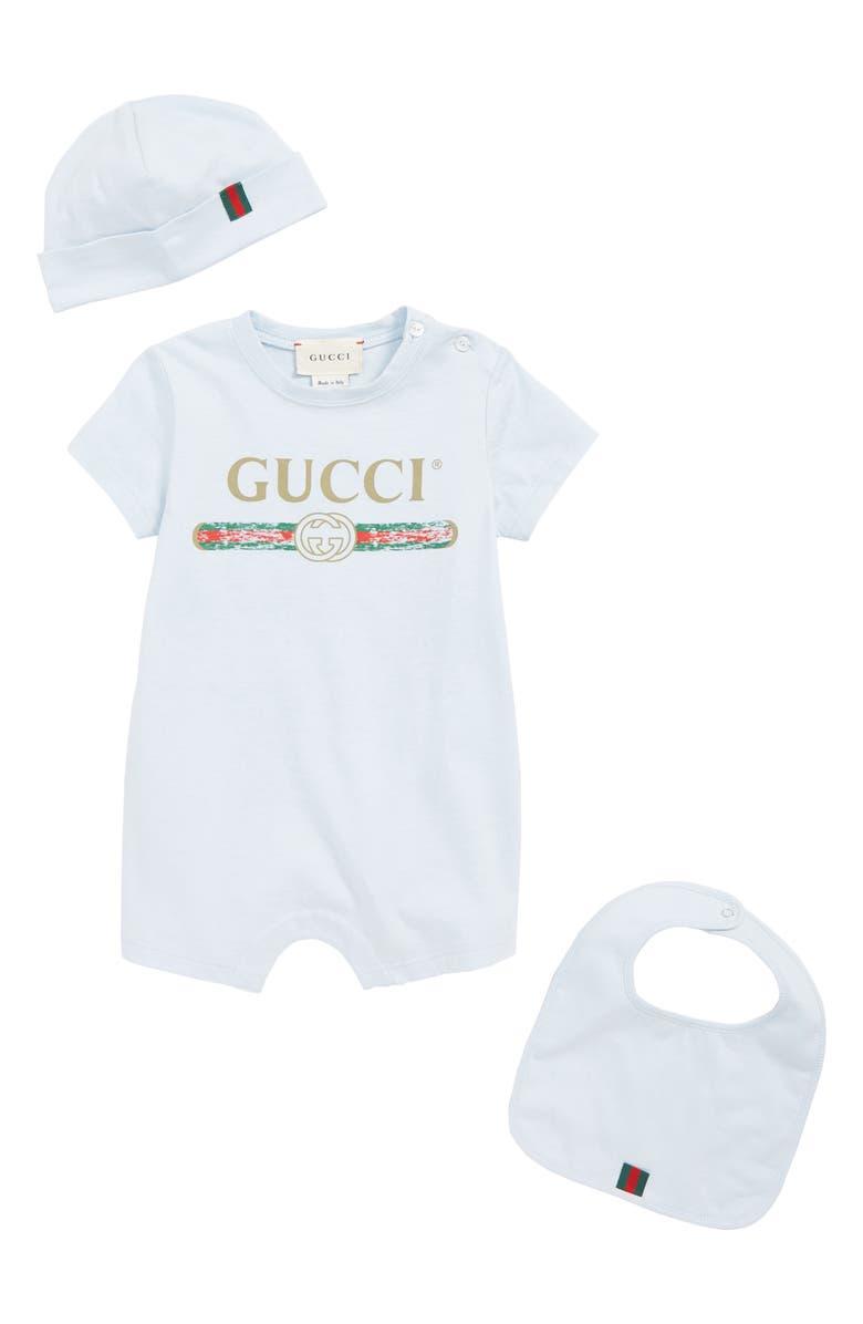 Gucci Romper Cap And Bib Set Baby