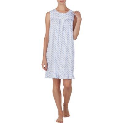 Eileen West Medallion Print Short Cotton Nightgown, White