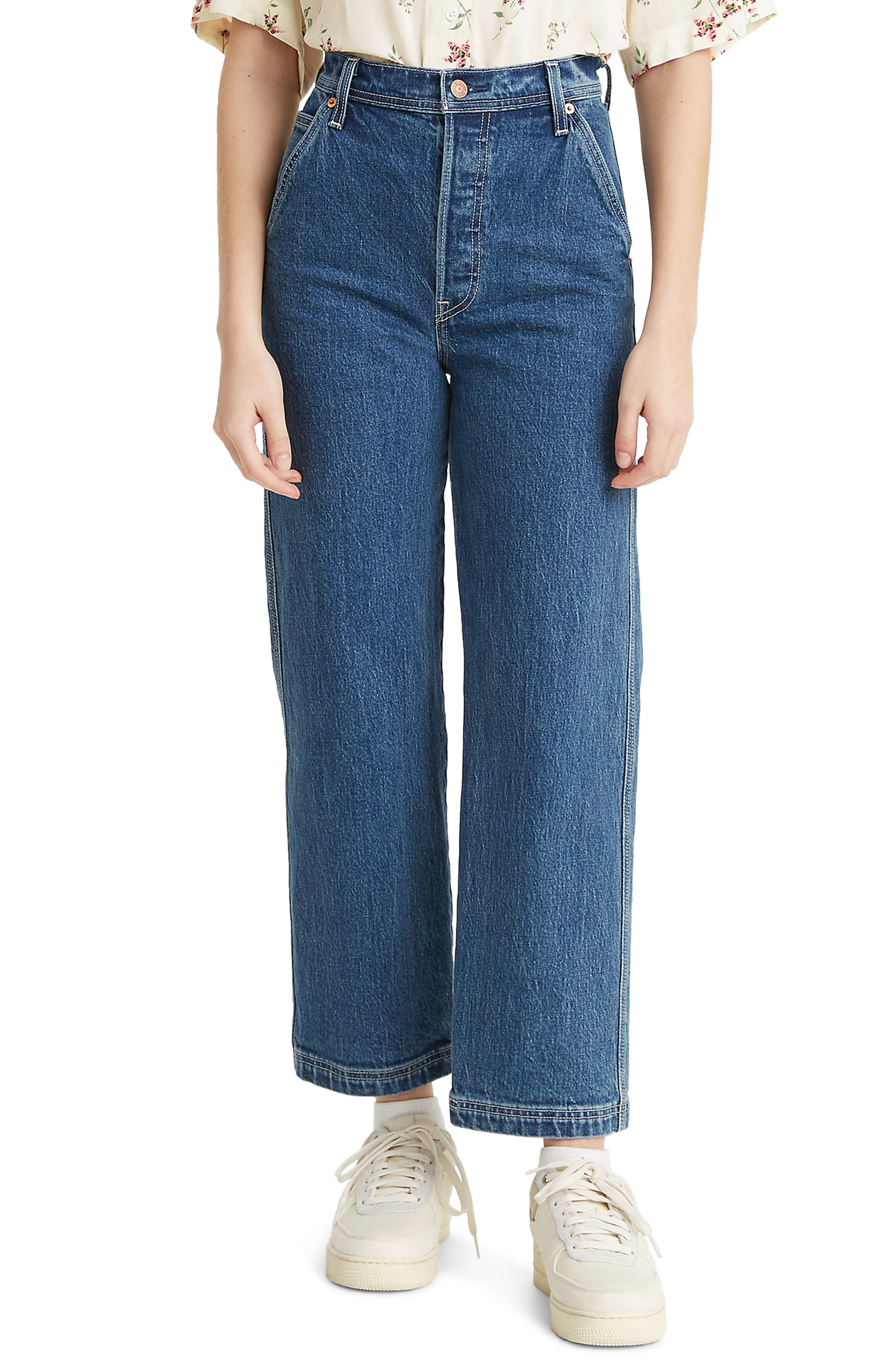 Levi's® Ribcage High Waist Straight Leg Utility Jeans (Nine to Five)   Nordstrom