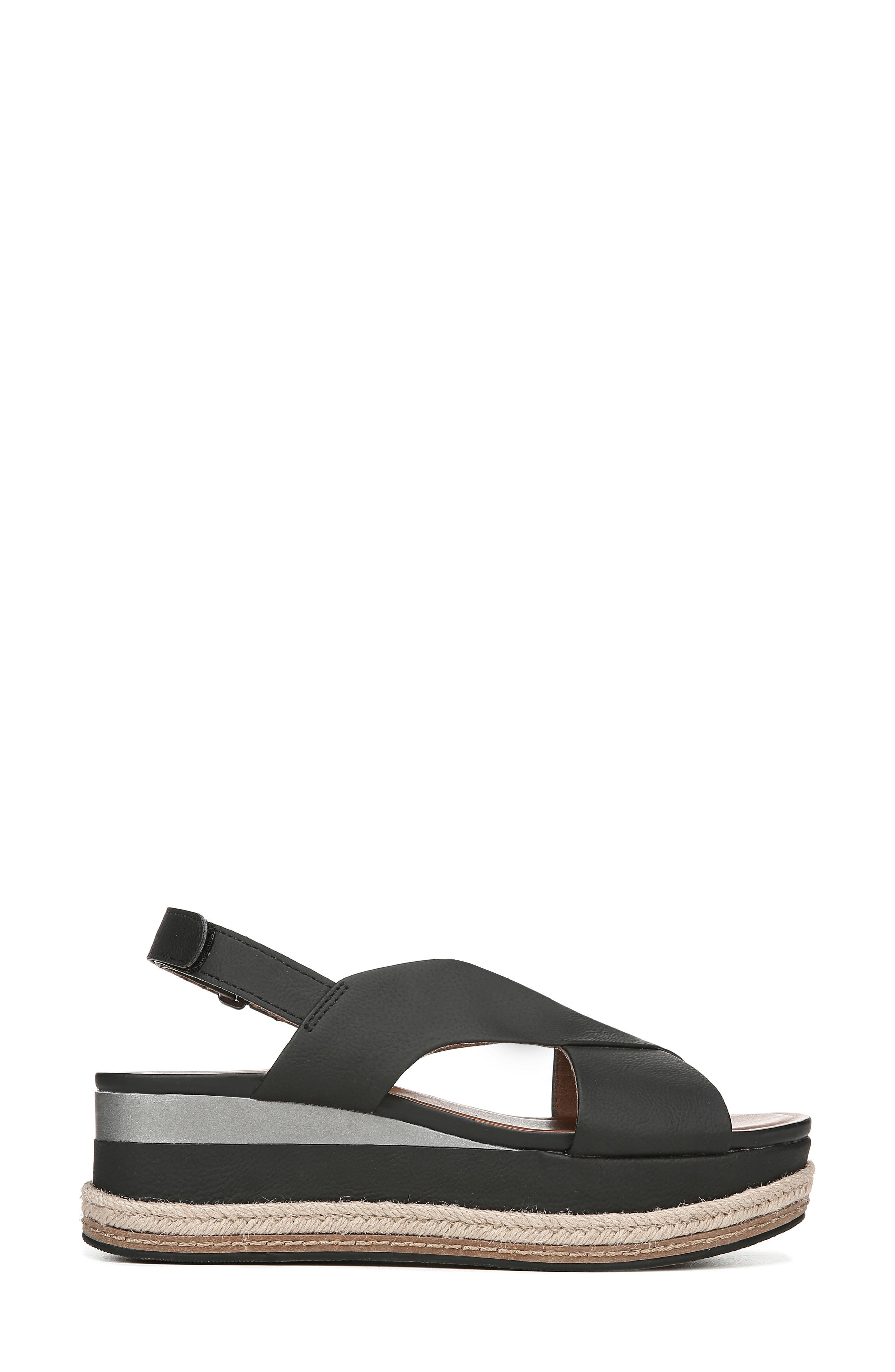 ,                             Baya Espadrille Wedge Sandal,                             Alternate thumbnail 3, color,                             BLACK NUBUCK LEATHER