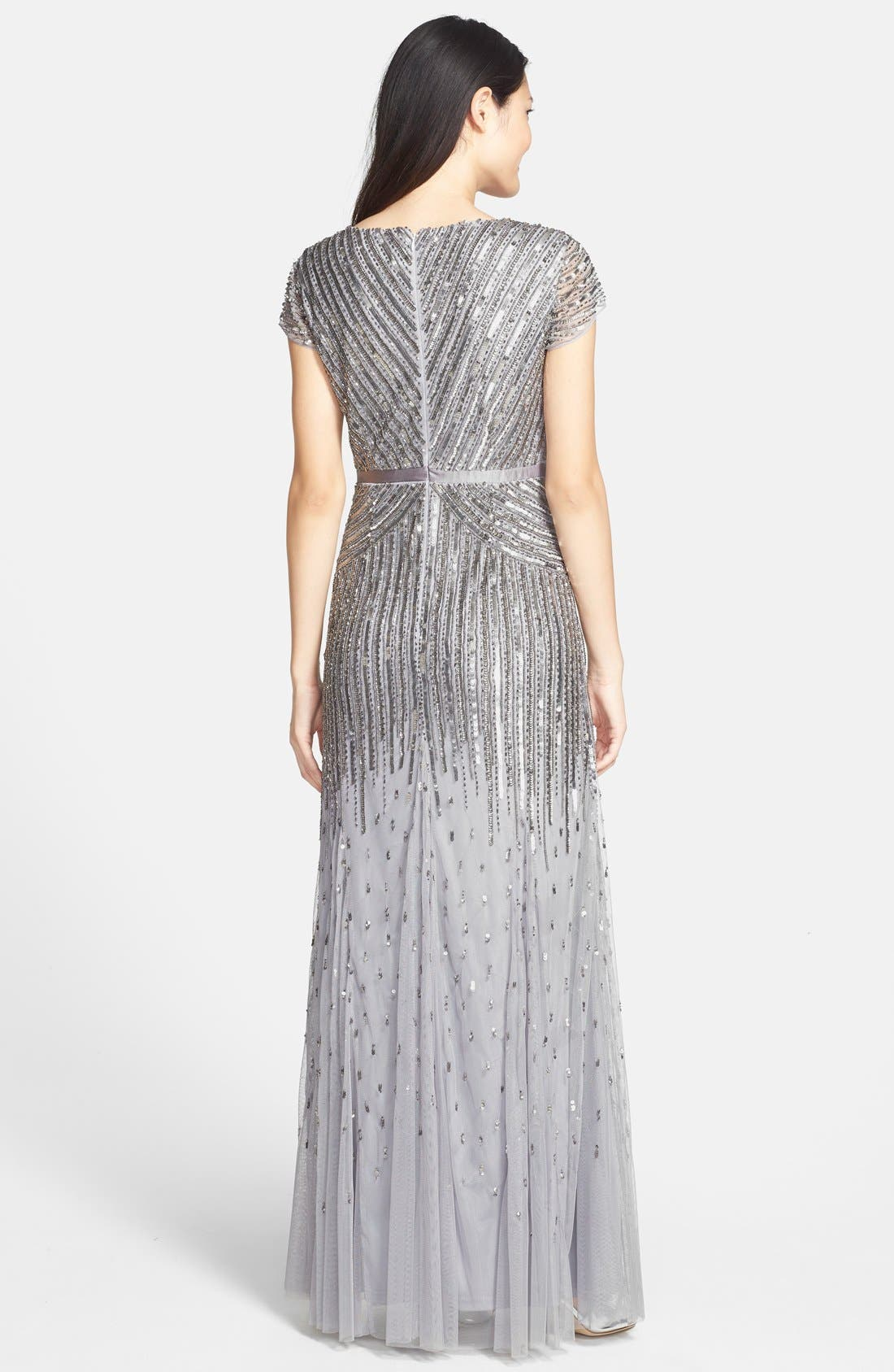 ,                             Embellished Mesh Gown,                             Alternate thumbnail 5, color,                             044