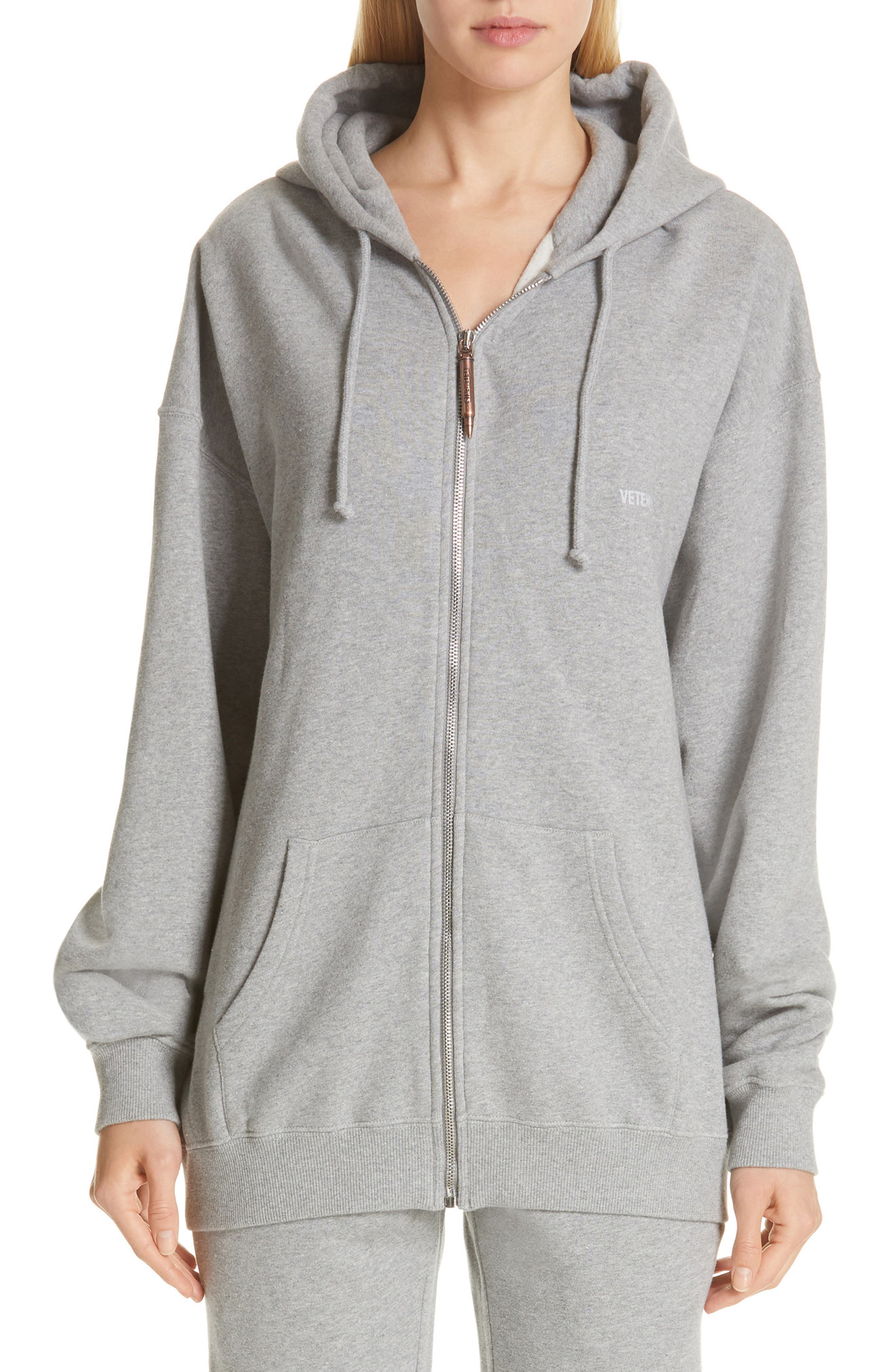 Elbow Cutout Hoodie, Main, color, GREY