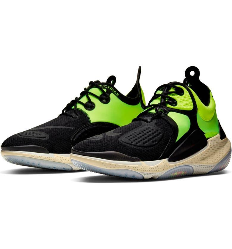 NIKE Joyride CC3 Setter Mid-Top Sneaker, Main, color, BLACK/ BLACK-VOLT-OATMEAL