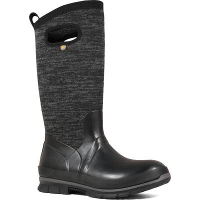 Bogs Crandall Tall Waterproof Boot, Black