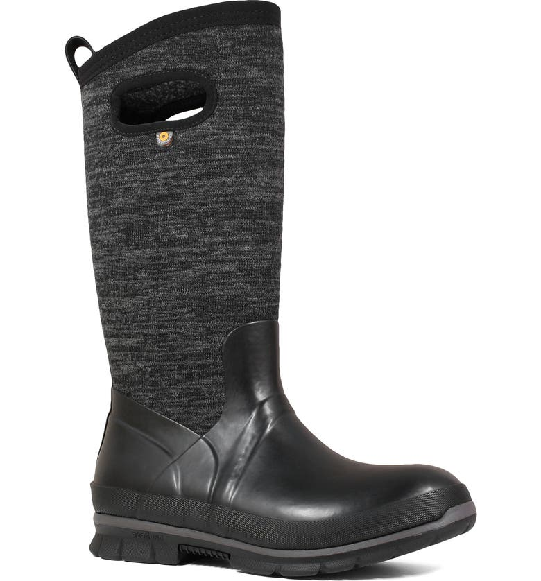 BOGS Crandall Tall Waterproof Boot, Main, color, BLACK MULTI RUBBER