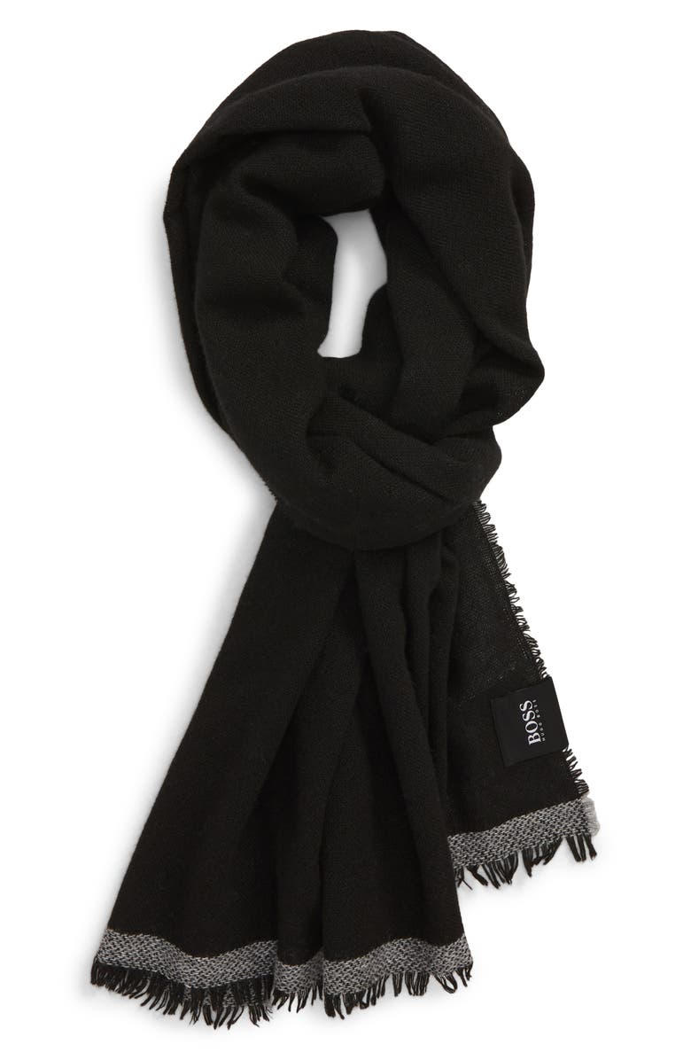 BOSS Nam Scarf, Main, color, BLACK