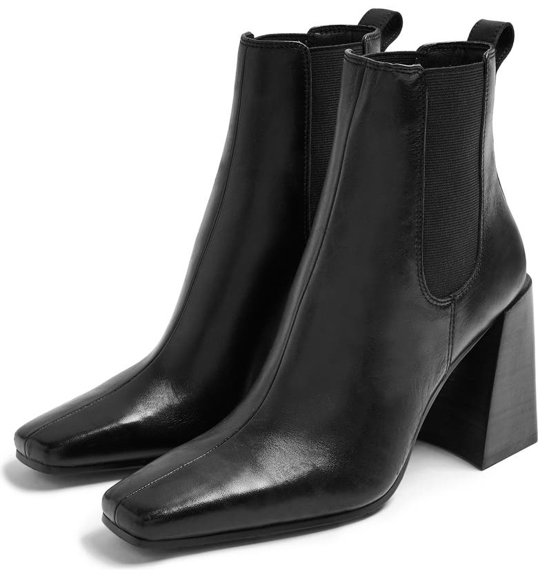 TOPSHOP Harbour Chelsea Boot, Main, color, BLACK