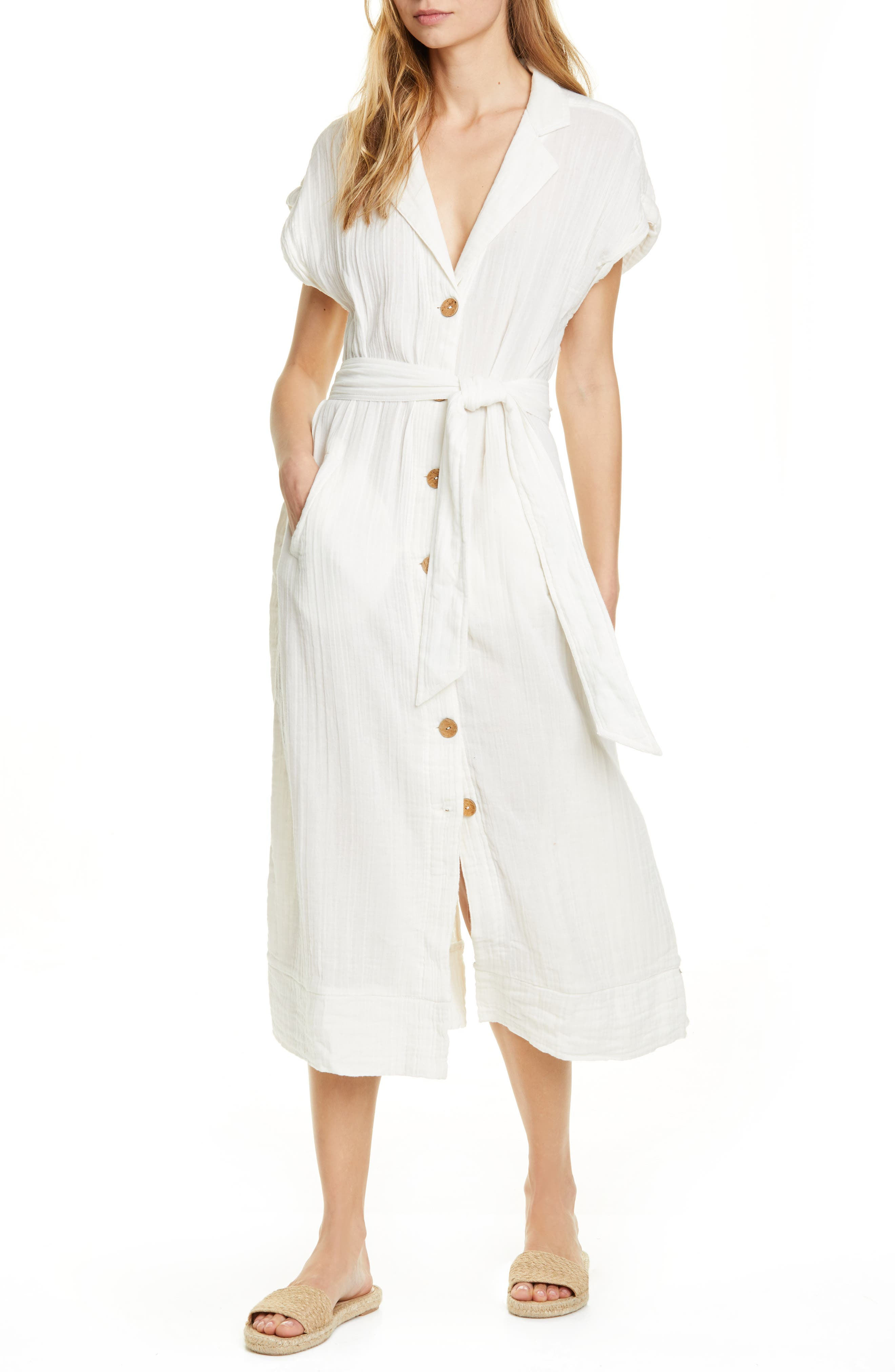 Endless Summer By Free People Soaking Up Summer Maxi Dress, Ivory
