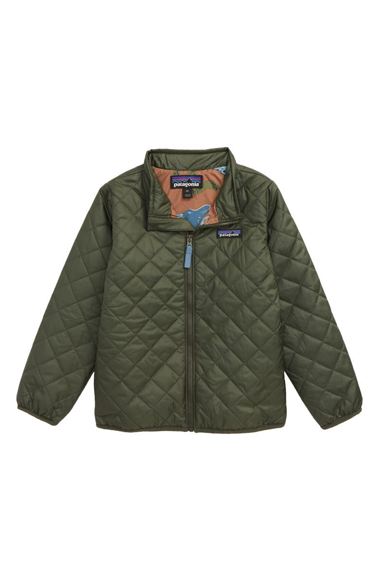 PATAGONIA Nano Puff<sup>®</sup> Quilted Water Resistant Jacket, Main, color, ALDER GREEN