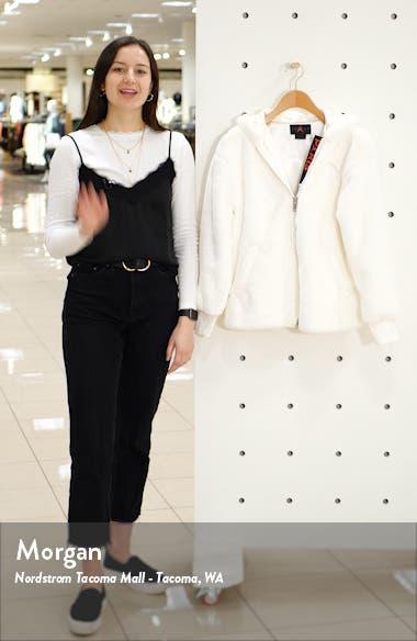 x Paris Saint-Germain Hooded Faux Fur Bomber Jacket, sales video thumbnail