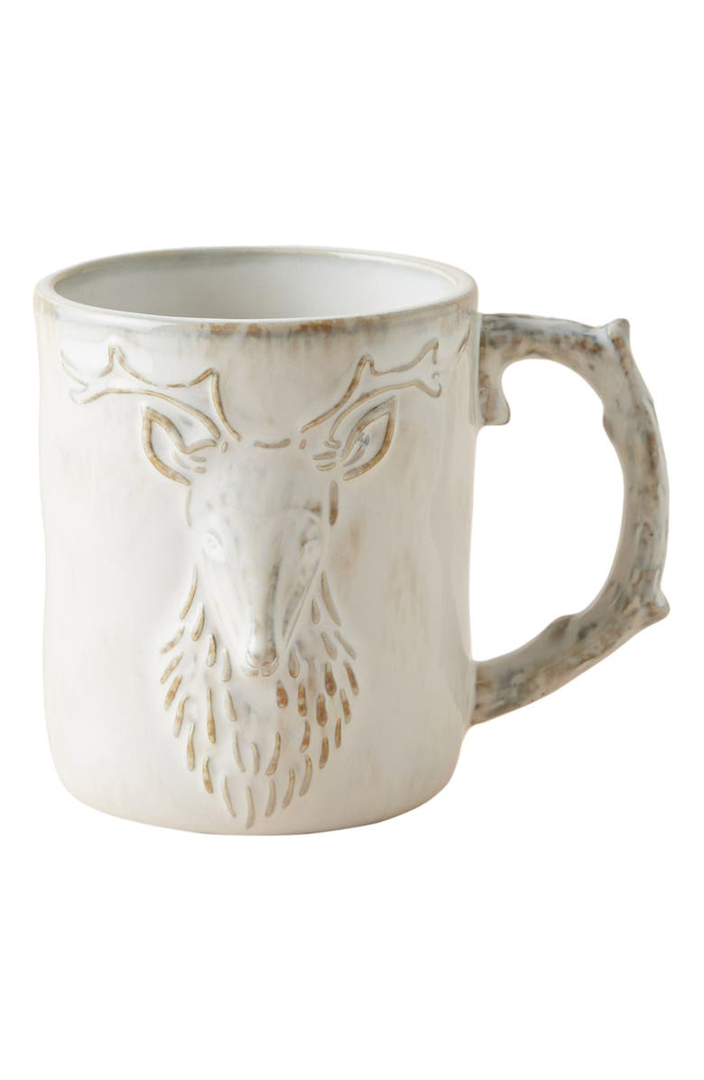 ANTHROPOLOGIE Kylo Deer Mug, Main, color, 100
