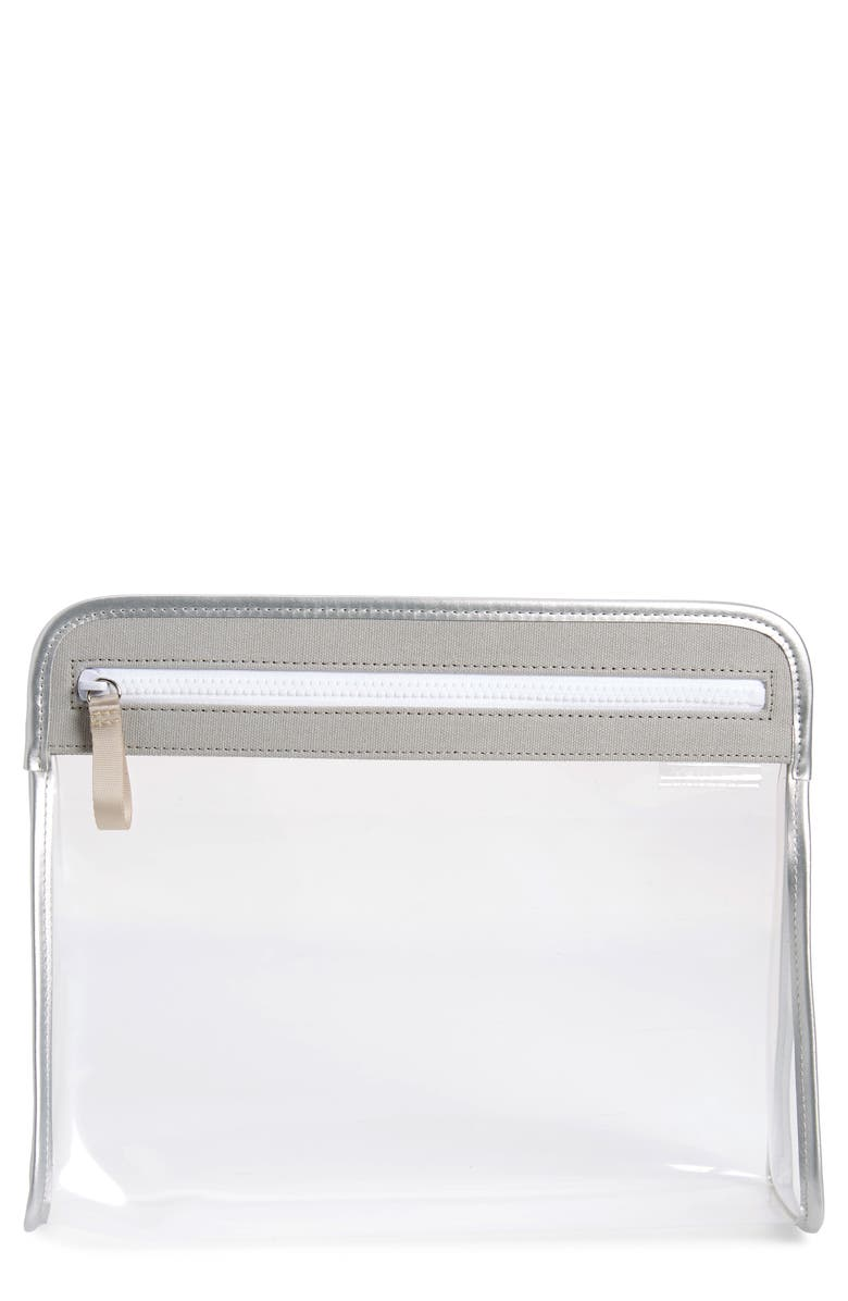 TRUFFLE Large Clarity Clear Pouch, Main, color, 040