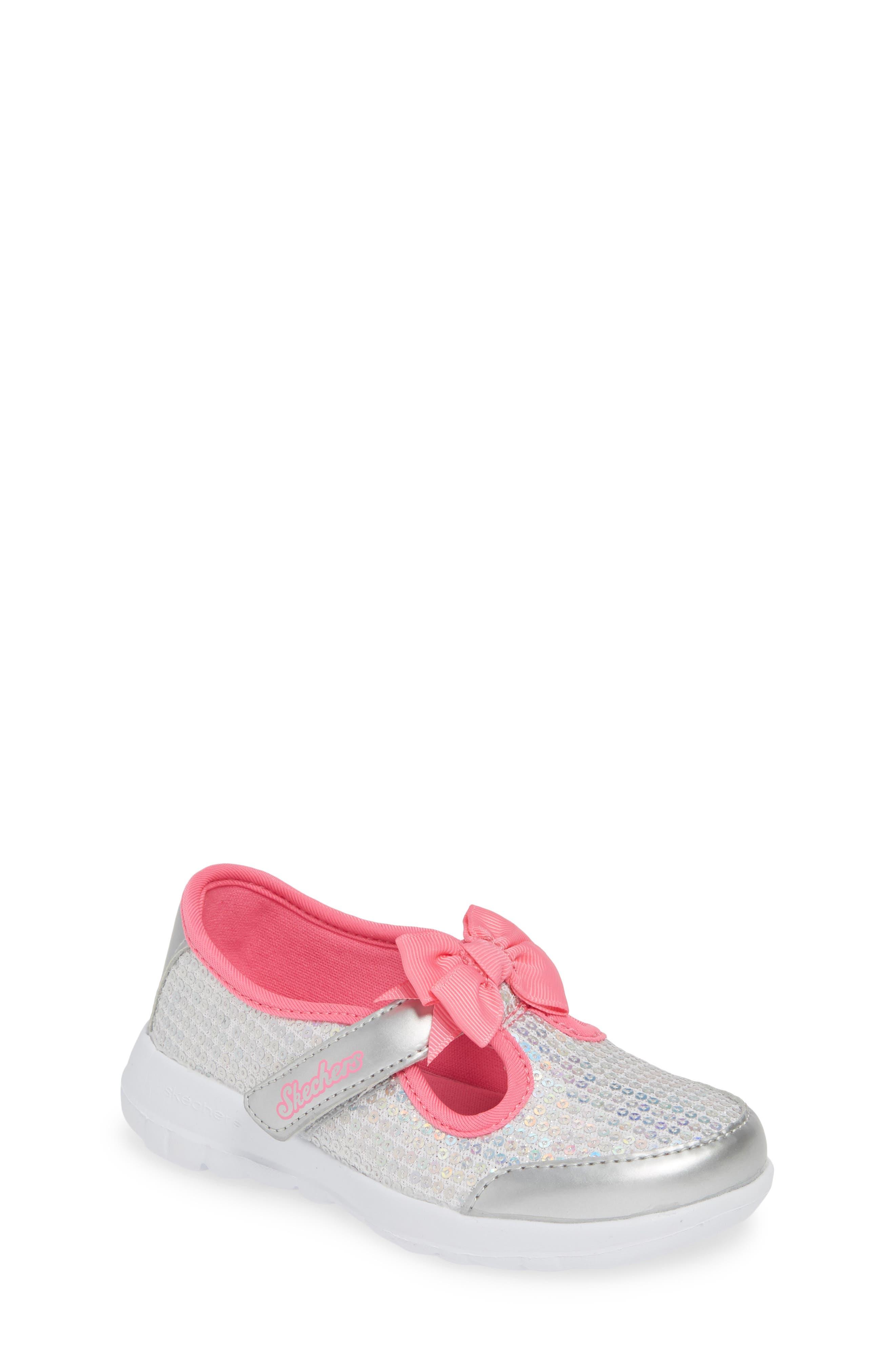,                             GOwalk Joy Sequin Sneaker,                             Main thumbnail 1, color,                             SILVER/ MULTI