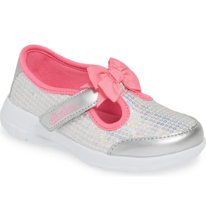 SKECHERS GOwalk Joy Sequin Sneaker, Main, color, SILVER/ MULTI