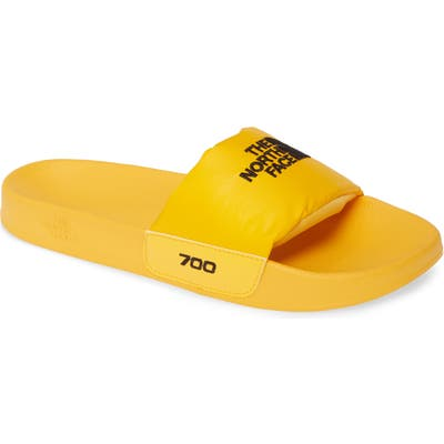 The North Face Nuptse Down Fill Slide Sandal, Yellow