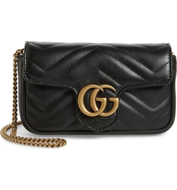 e6c35fea022fd7 Gucci Supermini GG Marmont 2.0 Matelassé Leather Shoulder Bag | Nordstrom