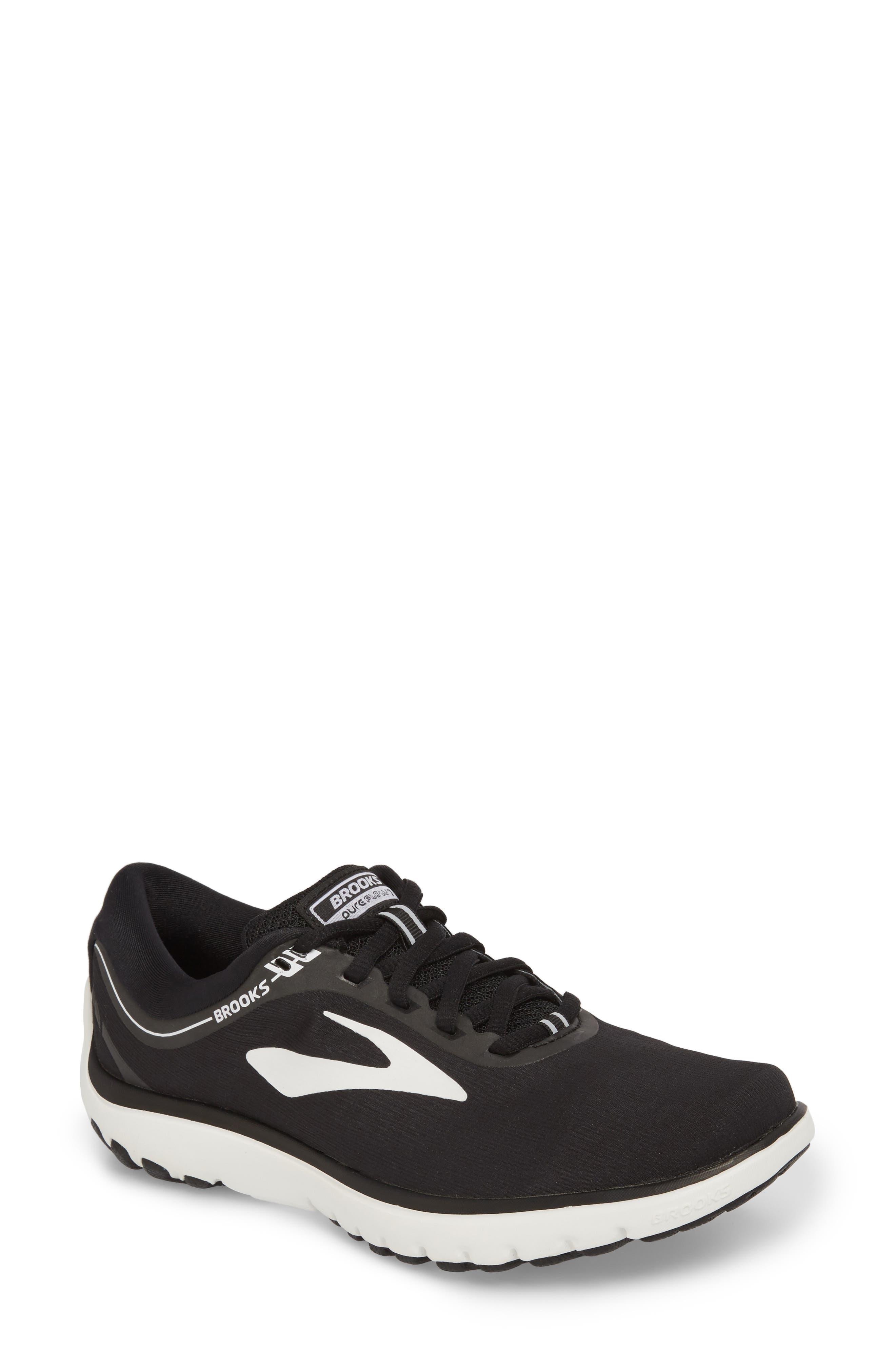 ,                             PureFlow 7 Running Shoe,                             Main thumbnail 1, color,                             BLACK/ WHITE