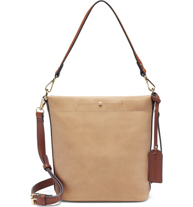 SOLE SOCIETY Beryl Faux Leather Bucket Bag, Main, color, 250
