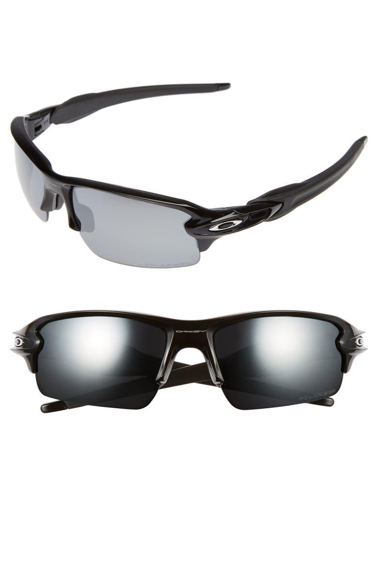 OAKLEY Flak 2.0 59mm Polarized Sunglasses, Main, color, BLACK