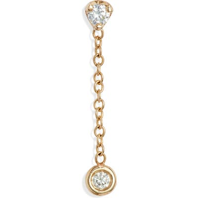 Zoe Chicco Diamond Chain Stud Earring