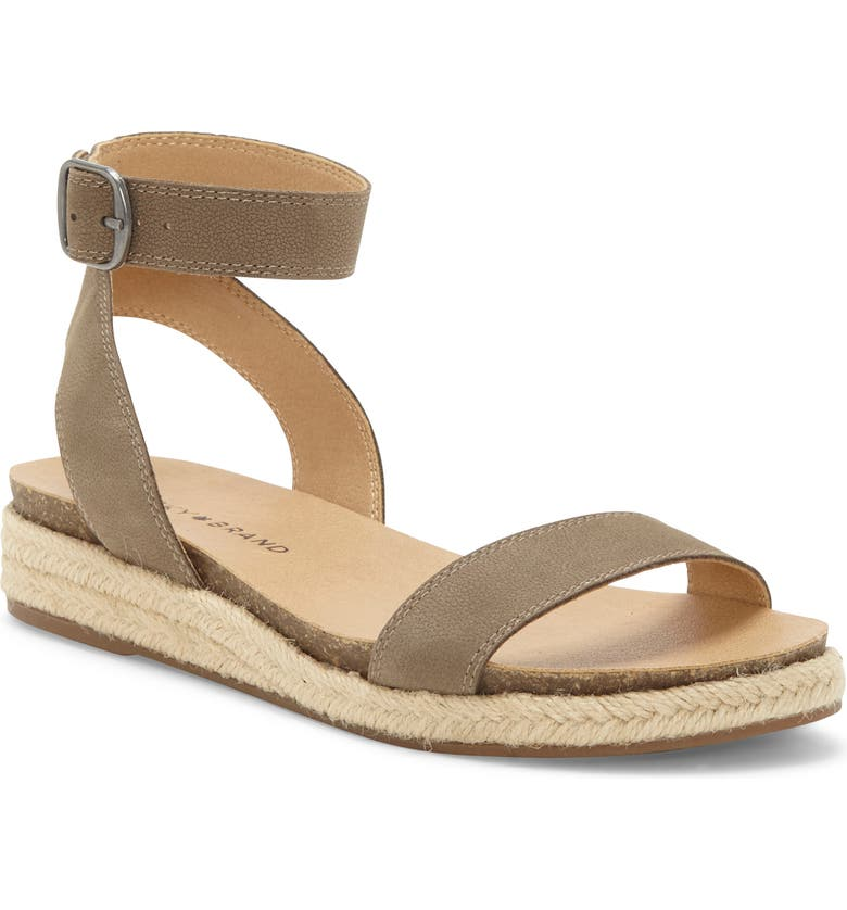 LUCKY BRAND Garston Espadrille Sandal, Main, color, FOSSILIZED LEATHER